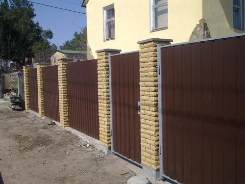 Забор со столбами Киевская область Киев