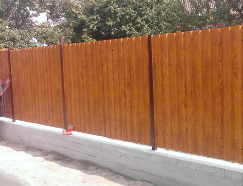 Забор из профнастила под дерево Киевская область Киев