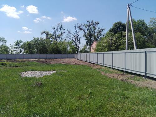 Забор из профнастила ограждение участка Киевская область Киев