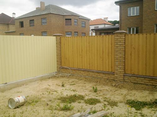 Забор из профлиста Киевская область Киев