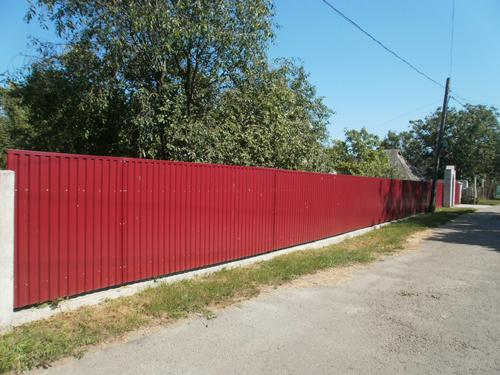 Забор из профнастила ПК 10